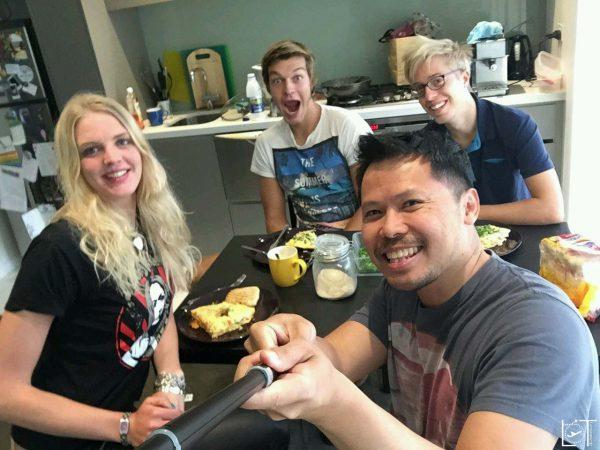 U beste Omlette! Gemeinsames Frühstück mit Jose, und den zwei anderen Couchsurfern aus Deutschland die bei ihm waren.